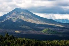 Kintamani vulkan och sjö Batur Etna Arkivbild