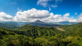 Kintamani vulkan och sjö Batur Etna Royaltyfria Bilder