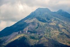 Kintamani vulkan och sjö Batur Etna Arkivfoto