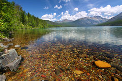 Kintla Lake Shoreline - Glacier NP Stock Photos