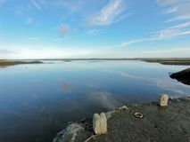 Kinvara Hafen, Galway, Irland stockbild