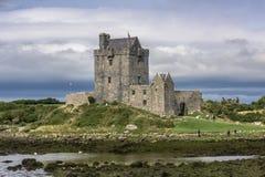 KINVARA, IRLAND - 18. AUGUST: Dunguaire-Schloss lizenzfreies stockbild
