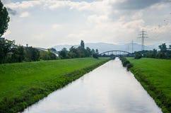 Kinzig flod Arkivbild
