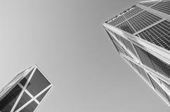 Kio在马德里,西班牙耸立摩天大楼 图库摄影