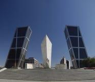 Kio Kontrolltürme. Madrid, Spanien Stockfotografie