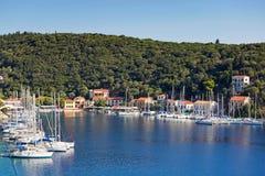 Kioni in Ithaki island, Greece Royalty Free Stock Images