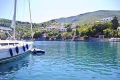 Kioni port Ithaca Grekland Royaltyfria Bilder