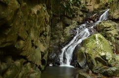 Kionsom瀑布在亚庇,沙巴,婆罗洲 免版税库存图片