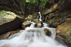 Kionsom waterfall Kota Kinabalu Sabah Stock Image