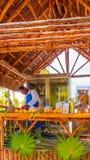 Kiosk av fruktfruktsafter Cayo Largo Cuba Royaltyfri Foto