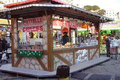 Kiosk. Bar kiosk at Luna Park stock images