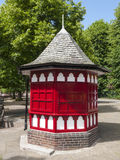 Kiosk. Closed kiosk or booth in Chester Cheshire UK Royalty Free Stock Images