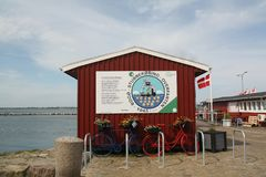 Kiosk in de haven Stubbekøbing denemarken Royalty-vrije Stock Foto
