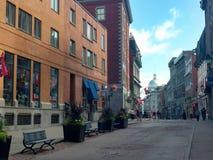 Kiosk Downtown Street of Montreal royalty free stock photo
