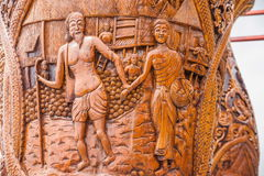 Kiosk för Chiang Mai, Thailand Suthep legendarisk tempelSsangyong bläddrande och konungen av Thailand Arkivbild