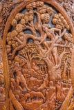 Kiosk för Chiang Mai, Thailand Suthep legendarisk tempelSsangyong bläddrande och konungen av Thailand Fotografering för Bildbyråer
