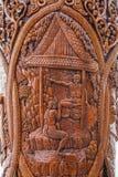 Kiosk för Chiang Mai, Thailand Suthep legendarisk tempelSsangyong bläddrande och konungen av Thailand Royaltyfri Bild