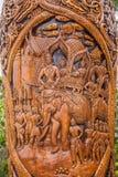 Kiosk för Chiang Mai, Thailand Suthep legendarisk tempelSsangyong bläddrande och konungen av Thailand Royaltyfria Foton