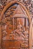 Kiosk för Chiang Mai, Thailand Suthep legendarisk tempelSsangyong bläddrande och konungen av Thailand Arkivbilder