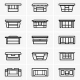 Kiosk icons Royalty Free Stock Image