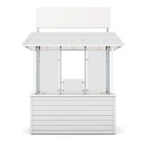 Kiosk isolated on a white background. 3d rendering Stock Photo