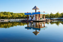 The kiosk in the lake Royalty Free Stock Photo