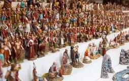 Kiosk met cijfers voor het creëren van Kerstmisscènes Stock Fotografie