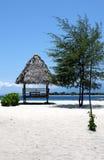Kiosk op het strand royalty-vrije stock foto