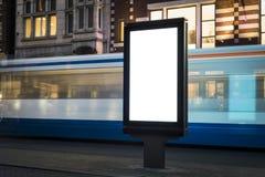 Kiosk. Outdoor kiosk city advertising in Amsterdam royalty free stock images