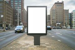 Kiosk. Outdoor kiosk city advertising in Amsterdam royalty free stock photos