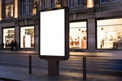 Kiosk. Outdoor kiosk city advertising in Amsterdam stock photography