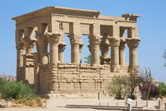 Kiosk of Philae. At the Isis temple in Lake Nasser stock images