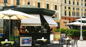 Kiosk terrace bar in Genoa Stock Photography