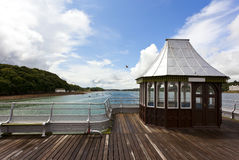 Kiosk on victorian pier at bangor Royalty Free Stock Image