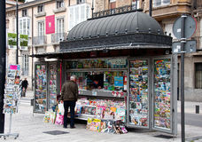 A kiosk in Vitoria-Gasteiz, Basque Country Royalty Free Stock Photos