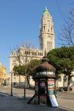 Kioska i urzędu miasta wierza. Porto. Portugalia Fotografia Stock