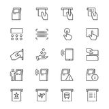 Kiosket gör symboler tunnare Arkivbild