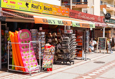 Kiosks full of postcards and souvenirs Stock Photography