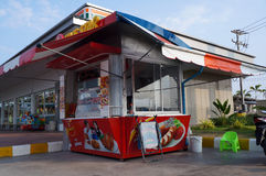 Kiosks selling food Stock Images
