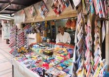 Kioskverkäufer an KLCC Stockfotos
