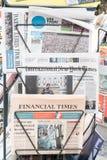 Kiosque à journaux américain Images libres de droits