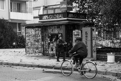 Kiosque à journaux dans Kavarna Photographie stock libre de droits
