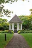 Kiosque à musique dans les jardins botaniques de Singapour Image libre de droits