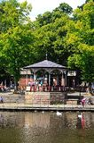 Kiosque à musique sur la rive, Chester Photos libres de droits