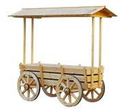 Kiosque d'achats stylisé comme vieux chariot images stock