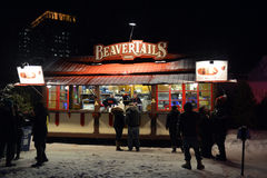 Kiosque de BeaverTails chez Winterlude Images stock