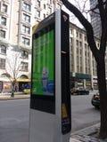 Kiosque de LinkNYC, un nouveau réseau de transmissions, New York City, Etats-Unis Images libres de droits