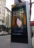 Kiosque de LinkNYC, un nouveau réseau de transmissions, New York City, Etats-Unis Image stock