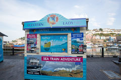 Kiosque de pêche dans Brixham photographie stock libre de droits