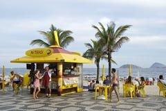 Kiosque de promenade de plage d'Ipanema Photos libres de droits